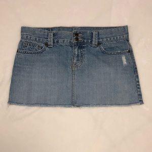 Abercrombie Denim Distressed Mini Skirt -Size 16
